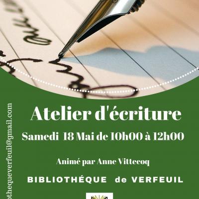 Atelier ecriture mai 19