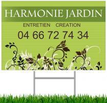 Harmonie jardin pub panneaux