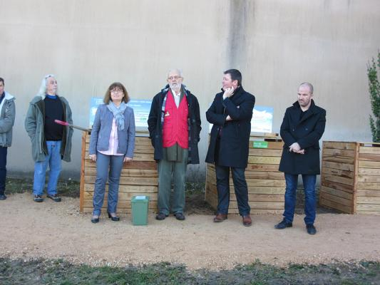 Inauguration aire compostage sitdom
