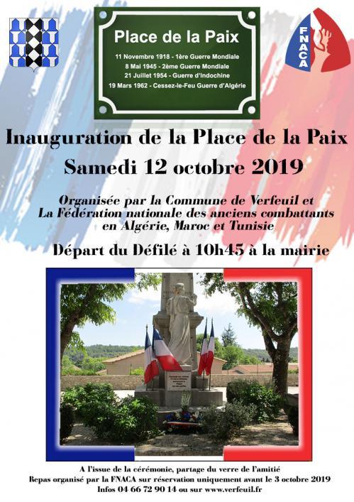 Inauguration place de la paix
